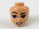 Part No: 49085  Name: Mini Doll, Head Friends with Raised Right Eyebrow, Dark Brown Eyes, Crooked Smile Pattern (Aladdin)