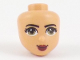 Part No: 72437  Name: Mini Doll, Head Friends with Olive Green Eyes, Dark Red Lips and Closed Mouth Pattern