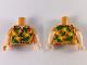 Part No: 973pb3630c01  Name: Torso Hawaiian Shirt Pattern / Light Nougat Arms with Nougat Short Sleeves and Hawaiian Pattern / Light Nougat Hands