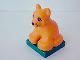 Part No: 2334c03pb01  Name: Duplo, Animal Lion Baby Cub on Green Base