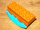 Part No: 31453pb01  Name: Duplo, Brick 2 x 6 Lower Flap Extensions with Wood and Water Pattern
