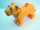 Part No: bigcat01c01pb01  Name: Duplo, Animal Lion Adult Female with Movable Head