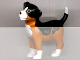 Part No: sniff  Name: Dog, Scala, Puppy with Black Back and White Chest, Feet and Muzzle Pattern (Sniff)