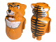 Part No: x254px1  Name: Animal, Body Part Creature Head and Torso - Tiger with Tygurah Pattern
