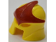 Part No: 11620pb01  Name: Minifigure, Headgear Helmet with Eye and Mouth Slits with Red Star Pattern