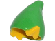 Part No: 13787pb01  Name: Minifigure, Headgear Hat, Elf with Pointed Ears with Bright Green Top Pattern