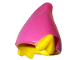 Part No: 13787pb03  Name: Minifigure, Headgear Hat, Elf with Pointed Ears with Dark Pink Top Pattern (BAM)