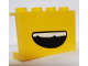 Part No: 14718pb031  Name: Panel 1 x 4 x 2 with Side Supports - Hollow Studs with Open Smile and Teeth Pattern