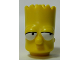 Part No: 15523pb01  Name: Minifigure, Head Modified Simpsons Bart Simpson - Eyes Looking Left