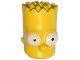 Part No: 15523pb02  Name: Minifigure, Head Modified Simpsons Bart Simpson - Eyes Wide