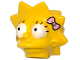 Part No: 15524pb03  Name: Minifigure, Head Modified Simpsons Lisa Simpson - Bright Pink Bow Pattern