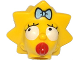 Part No: 15525pb02  Name: Minifigure, Head Modified Simpsons Maggie Simpson - Worried Look