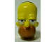 Part No: 15527pb01  Name: Minifigure, Head Modified Simpsons Homer Simpson - Eyes Partially Open