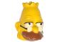 Part No: 15528pb01  Name: Minifigure, Head Modified Simpsons Grandpa Simpson Pattern