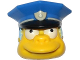 Part No: 15661c01pb01  Name: Minifigure, Head Modified Simpsons Chief Wiggum