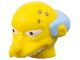 Part No: 15664pb01  Name: Minifigure, Head Modified Simpsons Mr. Burns Pattern