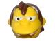 Part No: 16726c01pb01  Name: Minifigure, Head Modified Simpsons Nelson Muntz Pattern