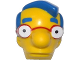 Part No: 16735c01pb01  Name: Minifigure, Head Modified Simpsons Milhouse Van Houten Pattern