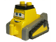 Part No: 17839pb01  Name: Duplo Bulldozer Body, Small with Disney Planes Drip Pattern