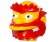 Part No: 19679pb01  Name: Minifigure, Head Modified Simpsons Groundskeeper Willie with Red Beard, Eyebrows and Hair Pattern