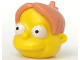 Part No: 19910pb01  Name: Minifigure, Head Modified Simpsons Martin Prince with Nougat Hair Pattern