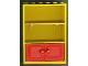 Part No: 2042c02  Name: Fabuland Cupboard 2 x 6 x 7 with Red Doors