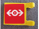 Part No: 2335pb055  Name: Flag 2 x 2 Square with Train Logo White on Red Background Pattern on Both Sides (Stickers) - Set 4556