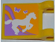 Part No: 2335pb099  Name: Flag 2 x 2 Square with Horse and 2 Butterflies Pattern (Sticker) - Set 3189