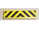 Part No: 2431pb180  Name: Tile 1 x 4 with Black and Yellow Danger Stripes Pattern (Sticker) - Set 7936