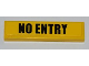 Part No: 2431pb211  Name: Tile 1 x 4 with Black 'NO ENTRY' on Yellow Background Pattern (Sticker) - Set 8197