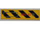 Part No: 2431pb227L  Name: Tile 1 x 4 with Black and Yellow Danger Stripes, Panel and Red 'H2O-22' Pattern Model Left (Sticker) - Set 7984