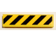 Part No: 2431pb530  Name: Tile 1 x 4 with Black and Yellow Danger Stripes (Yellow Corners) Pattern (Sticker) - Set 75053