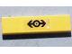 Part No: 2431pb547  Name: Tile 1 x 4 with Train Logo Black on Transparent Background Pattern (Sticker) - Set 4544
