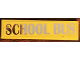Part No: 2431pb576  Name: Tile 1 x 4 with 'SCHOOL BUS' Pattern (Sticker) - Set 41134