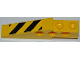 Part No: 2744pb020L  Name: Technic Slope Long with Black and Yellow Danger Stripes Pattern Model Left Side (Sticker) - Set 7746