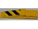 Part No: 2744pb020R  Name: Technic Slope Long with Black and Yellow Danger Stripes Pattern Model Right Side (Sticker) - Set 7746