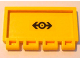 Part No: 2873pb13  Name: Hinge Train Gate 2 x 4 with Train Logo Black Small Pattern (Sticker) - Set 4564