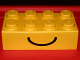 Part No: 29541pb01  Name: Brick, Soft 2 x 4 with Smile Pattern