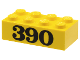 Part No: 3001pb009  Name: Brick 2 x 4 with Black '390' Pattern