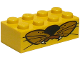 Part No: 3001pb013  Name: Brick 2 x 4 with Whiskers and Fangs Pattern