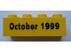 Part No: 3001pb021  Name: Brick 2 x 4 with October 1999 Pattern