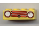 Part No: 3001pb038  Name: Brick 2 x 4 with Car Grille Fabuland Horizontal Red Pattern (Sticker) - Sets 134-2 / 344-2