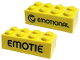 Part No: 3001pb134  Name: Brick 2 x 4 with 'EMOTIONAL' Pattern (PlayDay 2018)