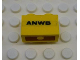 Part No: 3004pb019  Name: Brick 1 x 2 with 'ANWB' Pattern on Both Sides (Stickers) - Set 1590-2