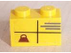 Part No: 3004pb027  Name: Brick 1 x 2 with Parcel with Weight Pattern (Sticker) - Set 2150