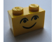 Part No: 3004pb057  Name: Brick 1 x 2 with Eyes and Smile and Eyebrows Pattern