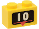 Part No: 3004px3  Name: Brick 1 x 2 with White Number 10 Marker Pattern