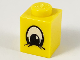 Part No: 3005px2  Name: Brick 1 x 1 with Eye Squinting Black and White Pattern