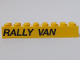 Part No: 3007pb03R  Name: Brick 2 x 8 with 'RALLY VAN' Pattern Model Right Side (Sticker) - Set 5550