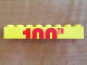 Part No: 3007pb07  Name: Brick 2 x 8 with Top Half of '100TH' Pattern